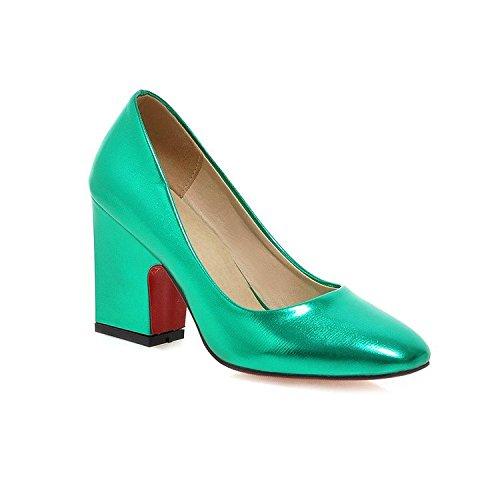 High Rough 40 33 Heels Frauen Kleid Mund Shallow Size Large Party Heel 43 Lackleder Schuhe HIGHXE Hochzeit wtUR5