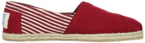 color mujer Sole negro 1019B09R Rope 38 para Rojo Zapatos 5 talla Toms UYwZqSU