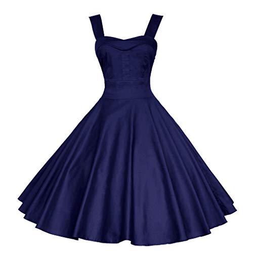 Pandaie-Womens Dresses, Fashion Womens Sleeveless Vintage Dress Solid Retro Ball Gown Camis Swing Dress ()