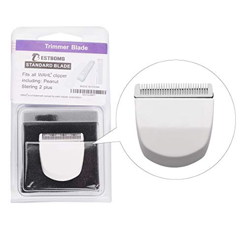 (Professional Peanuts Clippers Snap Replacement Blades Detachable Trimmer Blade #2068-300 for Wahl Peanut/Clipper/Trimmer (White))