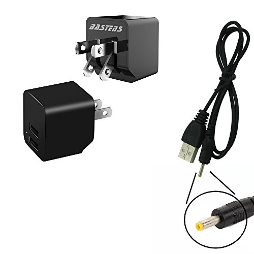 4 Megapixels Kodak Easyshare (2in1 dual mini wall outlet charger with double USB power ports & sized pocket for travel 2.4 Amp 12W with USB charge cable designed for the Kodak Easyshare One 4MP)