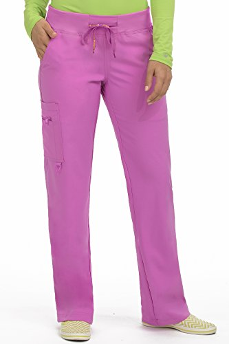 Med Couture Activate Women's Yoga Cargo Pocket Scrub Pant, Large Tall/Tall, Mauve-a-lous