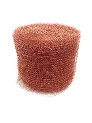 Brillante Copper Mesh Pest & Rodent Control - Use as a Repellent Mice, Rats, Snakes, Bats Insects - 100 Ft Roll