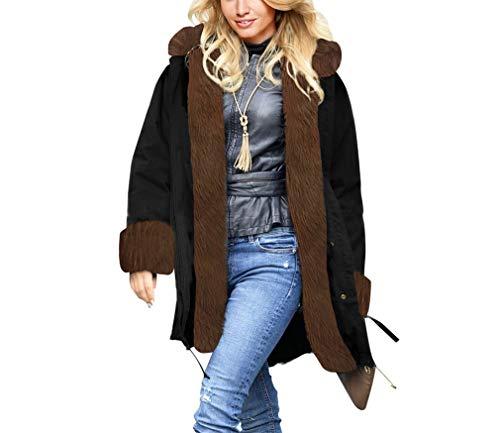Inverno Con nbsp;giacca Donna Yuch Invernale Autunno Cappuccio Blackk Da 6xHHPqS0