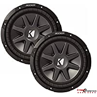 2 x BRAND NEW KICKER COMPVR 10CVR124 12' DUAL 4-OHM CAR AUDIO SUBWOOFER 1600 WATTS