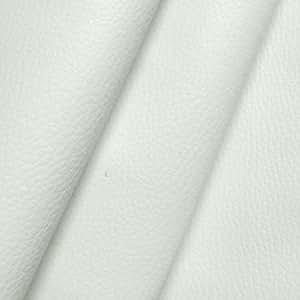Stoffkontor - Vinilo de piel artificial (efecto grano), color blanco