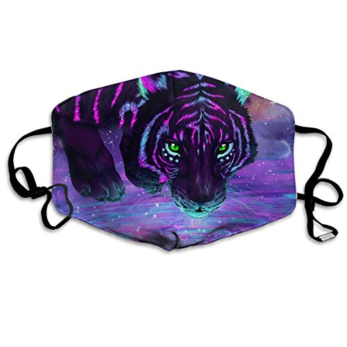 Unisex Colourful Tiger Printed Cotton Mouth-Masks Face Mask Polyester Anti-dust Masks
