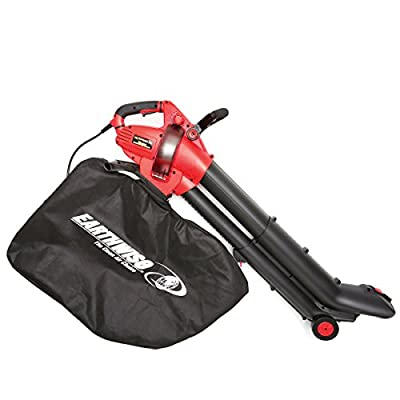 EarthWise FieldSmith by 12-Amp Corded 3-in-1 Wheeled Blower, Vacuum and Mulcher - Red
