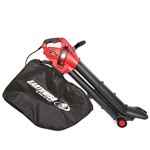 EarthWise 12-Amp Corded 3-in-1 Wheeled Blower, Vacuum Mulcher - Red by EarthWise