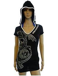 Subliminal Reaper Hooded Juniors Black Cover Up (Juniors Medium)