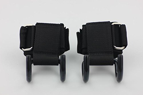 Plustrong Weight Lifting Hooks Gym Power Heavy Duty Grips With Thick Neoprene Padded Wrist Support (Pair)