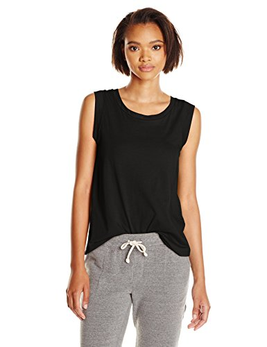 Alternative Women's Cap-Sleeve Crew Tee, Black, X-Small ()