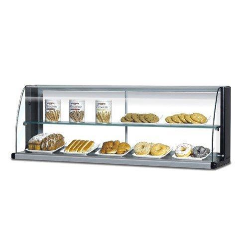 TOMD50HB 50 Non Refrigerated Top Case for Open Display Merchandiser: Slim Line Black