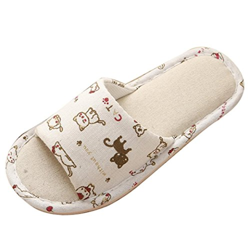 - DENER Women Ladies Girls House Slippers,Flat Furry Fluffy Bunny Slip on Wide Width Indoor Shower Bedroom Shoes (Beige 4, 37-38)