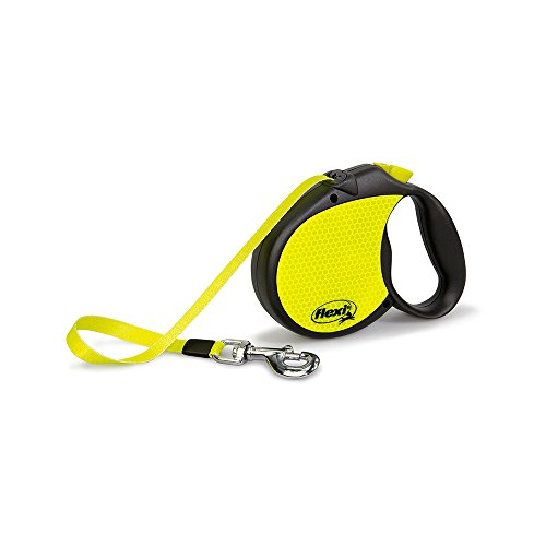 flexi Neon Retractable Lead, Yellow/Black, Large, 5 m/50 Kg