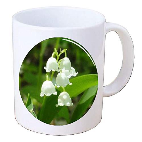Lily of the Valley Flower Handcrafted Coffee Mug Mug,Art Mug Coffee Mug,Glass Mug,Handmade Jewelry,BV170