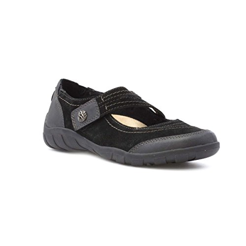 Earth Spirit Womens Black Leather Casual Shoe Black ft0JGdNf8Q