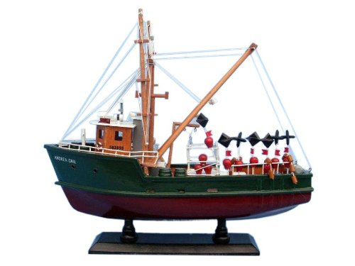 Hampton Nautical  Andrea Gail The Perfect Storm 16'' Hampton Nautical Model Ship, Fully Assembled (Not a Kit) by Hampton Nautical