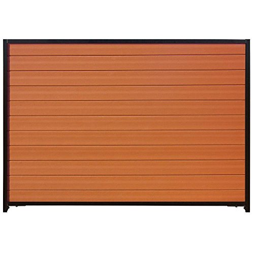 Santa Fe 6 ft. H x 8 ft. W Timber Brown/Black Composite/Steel Horizontal Privacy Fence Panel with Posts and Rails