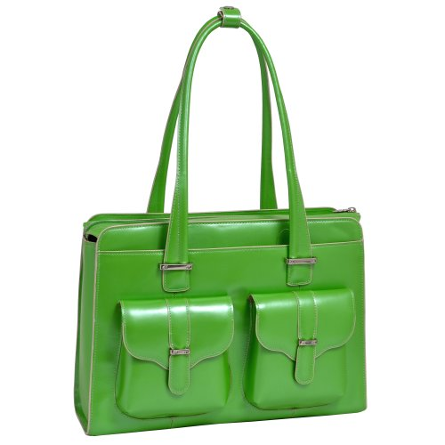 Ladies Briefcase Green (McKleinUSA ALEXIS 96541 Green Leather Ladies' Briefcase)
