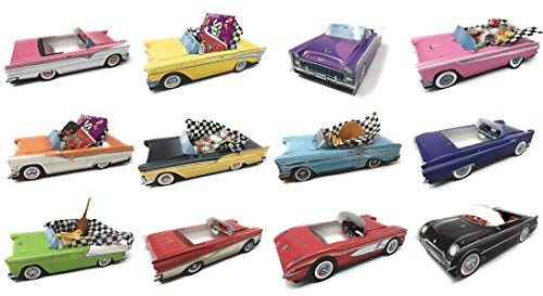 Dunwoody Specialty Sales - Classic Car Sets 12 Classic Car Party Food Boxes - 1950's Collection]()
