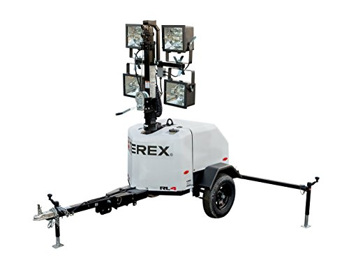 Terex RL4 Compact Portable Light Tower, 6kW Generator With 10.7 HP Diesel Engine, 4000 Watts of Light by Terex