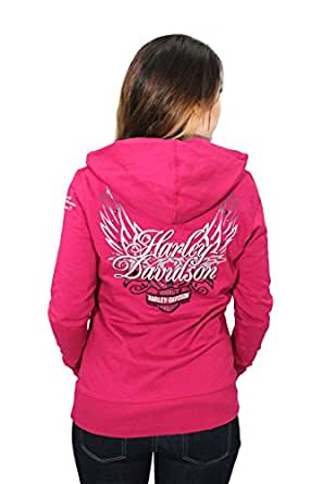 Harley-Davidson Womens Gothic Beauty Trademark B&S with Wings Hoodie - SM