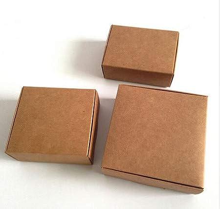 Amazon.com: Ranggrgt 20Pcs Natural Kraft Paper Gift Box Craft Gift Box Wedding Candy Paper Box Carton Cajas Packaging for Soap Jewelry Box 65x60x20mm: Home ...