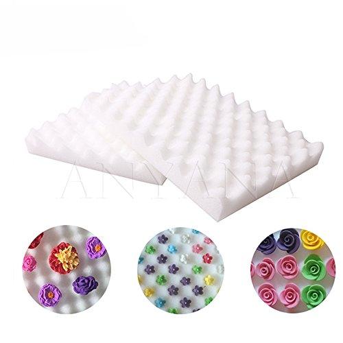 Anyana 2 Pcs Fondant Cake Tools Flower Modeling Foamshaping Sponge Pad Cake (Shaping Pad)