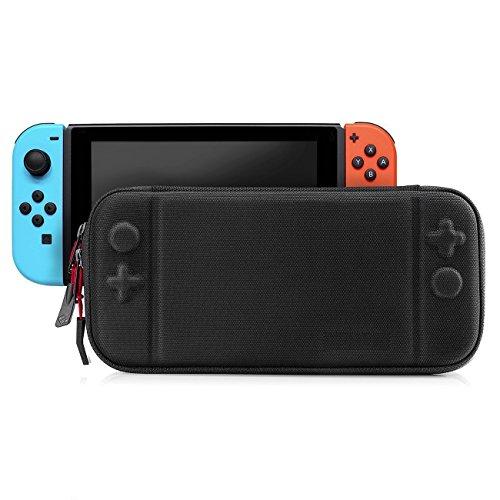 Timotech Funda para Nintendo Switch Color Negro Ultra Delgada. Estuche/Case Protector de Tela Oxford para Nintendo Switch
