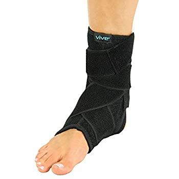Ankle Stabilizer Brace by Vive - Neoprene Compression Wrap & Foot Protector for Sprained Ankles, Running, Sports, Soccer, Football, Volleyball & Basketball - Men & Women - Right or Left