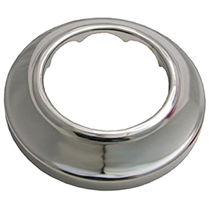LASCO 03-1541 Sure Grip Chrome Plated Shallow Flange Fits 1-1/2-Inch Iron  Pipe