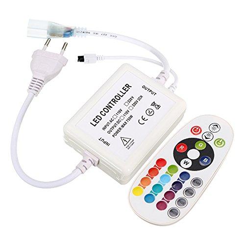 AC220V EU Plug Infrared Controller with 24 Keys Remote Control for LED Strip Light