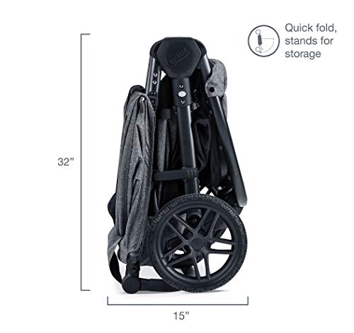 41vnFyTdKLL - Britax B-Free Travel System With B-Safe Ultra Infant Car Seat - Birth To 65 Pounds | All Terrain Tires + Adjustable Handlebar + Extra Storage With Front Access + One Hand, Easy Fold, Vibe
