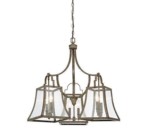 Savoy House 1-920-6-12 Belle 6-Light Chandelier in Chateau Linen Finish ()