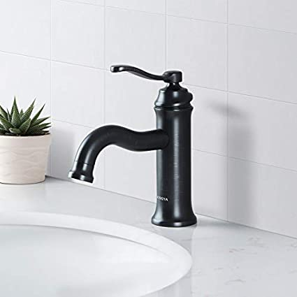 Aosgya Bathroom Faucet Matte Black Antique Single Handle Bathroom