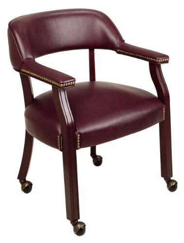 Office Star Traditional Guest Chair with Wrap Around Back and Casters by Office Star