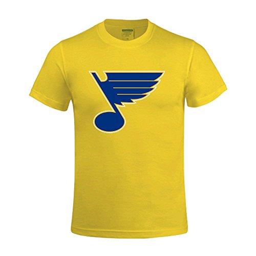 NHL St Louis Blues Men's O Neck unique T Shirts Yellow