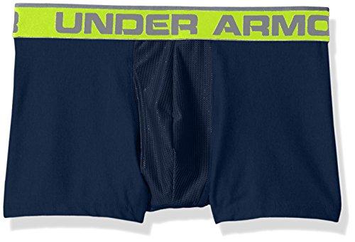"Under Armour Mens Original Series 3"" Boxerjock, Academy (408)/High-Vis Yellow, X-Large"