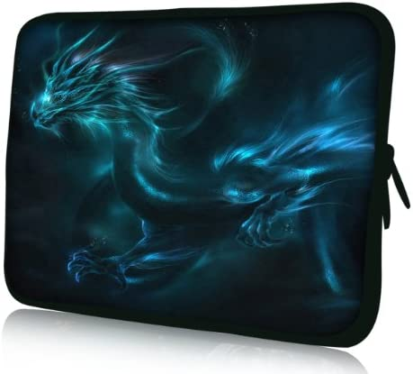 Luxburg Messenger Bag with Fantasy Dragon Design for 14.2-Inch Laptop