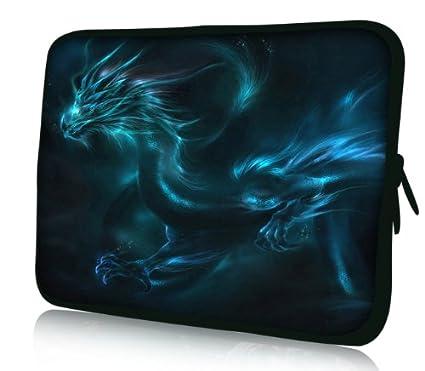 Luxburg Design Funda Blanda para Ordenador portátil (15,6 Pulgadas, Motivo: Dragon