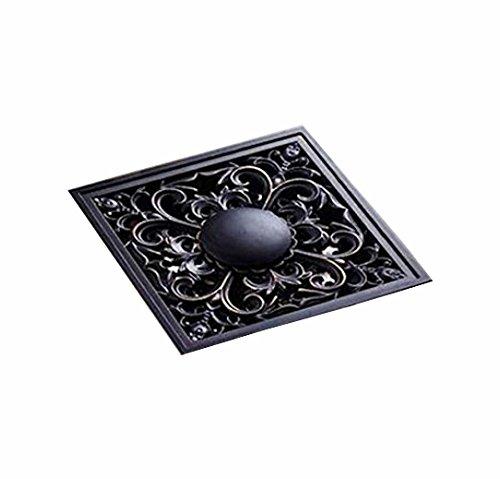 Senlesen Art Carved Oil Rubbed Bronze 4'' Shower Floor Waste Drain Cover Washer Machine Waste Drain