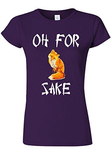 統計的ラッドヤードキップリング辛いOh For Fox Sake Funny Novelty Purple Women T Shirt Top-XL