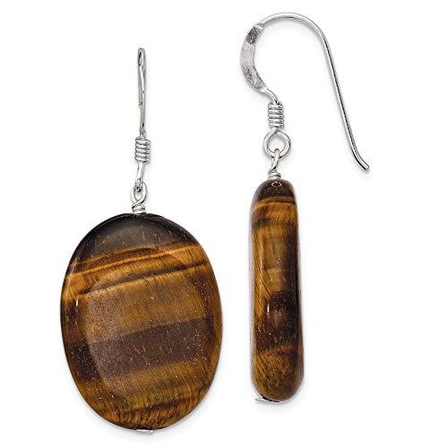 (925 Sterling Silver Tigers Eye Drop Dangle Chandelier Earrings Fine Jewelry Gifts For Women For Her )