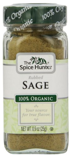 The Spice Hunter Organic Rubbed Sage, 0.9 oz. jar