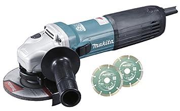 Makita GA5040CJD Meuleuse d angle avec système anti-redémarrage 2 disques  diamant en 4cc9278855ae