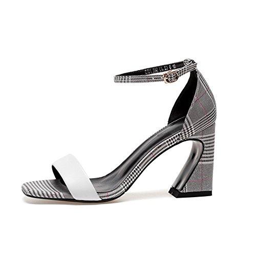 capi donna delle latticed NHGY estate sandali pelle donne trentotto fibbie di dei sandali e 00Ag1