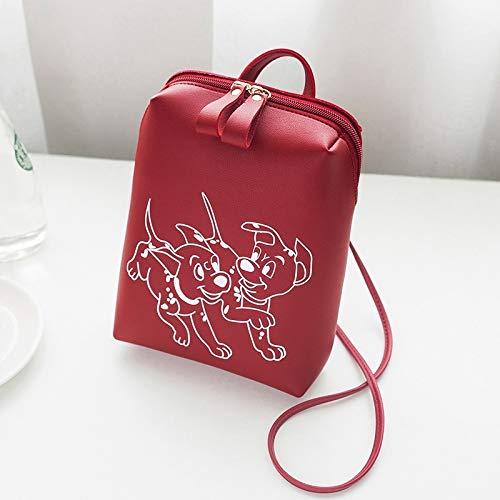 Warm Mignon Sac Motif Bandoulière Red Pratique Femme Home À Chien Imprimé Pour BqwUBZr