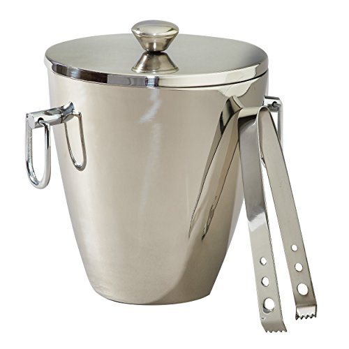 Elegance Silver Victoria Double Wall Wine Cooler / Ice Bucket With Tong For Sale