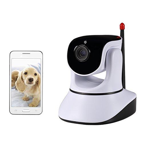 Nexgadget 720P WiFi Wlan IP Sicherheitskamera, Schwenk- und Neige- WiFi IP Sicherheitskamera, Plug/ Play Überwachungskamera mit Baby Monitor Video, 2-Wege Audio und Nachtsicht Funktion, Baby-Haustier-Video Monitor,Nanny Cam, Motion-Detection-P2P-Netzwerk-Kamera